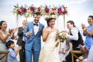 Bespoke Barn Weddings tropical themed wedding