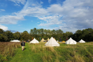 Bespoke Barn Weddings Bell tent village