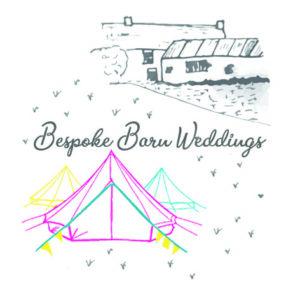 bespoke barn weddings sticker clear