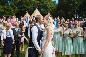 Bespoke Barn Weddings couple