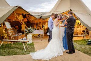 Bespoke Barn Weddings Elite tents tipi wedding