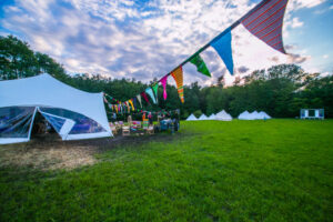 Bespoke Barn Weddings smart party marquee