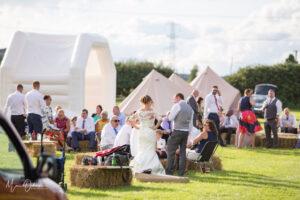 Bespoke Barn Weddings bouncy castle