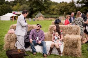 Bespoke Barn Weddings - Hay Bale Sofa