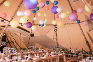 Bespoke Barn Weddings Paper lanterns