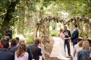 Bespoke Barn Weddings Ceremony heart arch