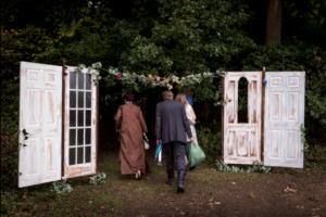 Bespoke Barn Weddings Magical doorway decor