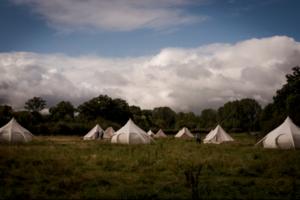 Bespoke Barn Weddings bell tent hire
