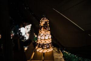 Bespoke Barn Weddings donut wedding cake